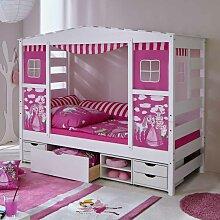 Spielbett in Weiß Rosa Prinzessin Design