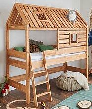 Spielbett Tom´s Hütte 20583 Hochbett Kinderbett Natur