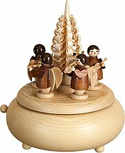 Spieldose mit 5 Engel und Spanbaum - Original Erzgebirge® #0212
