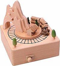 Spieldose mit Musik Spieluhr Holz Eisenbahn Music