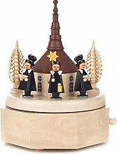 Spieldose mit Seiffener Kirche und farbiger