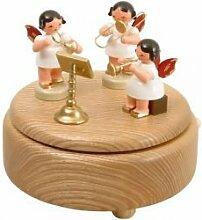 Spieldose natur mit 3 Engel bun