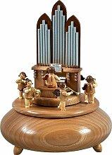 Spieldose Orgel mit Engel 6 Bläser natur d = 22