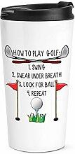 spielen Golf Reise Becher Tasse