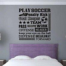 Spielen Sie Fußball Vinyl Applique Wandaufkleber