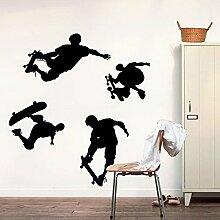 Spielen Skateboards Sport Wand Aufkleber Home Aufkleber PVC Wandmalereien, Vinyl, Papier, House Dekoration Tapete Wohnzimmer Schlafzimmer Küche Kunst Bild DIY für Kinder Teen Senior Erwachsene Kinderzimmer Baby