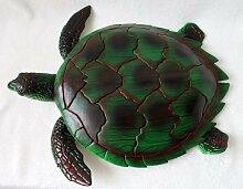 Spielfigur Schildkröte 43cm Deko Kunststoff Meeresschildkröte (Grün)