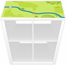 Spielfolie für KALLAX Regal x 38,5 cm Wald & Wiese (Möbel nicht inklusive)