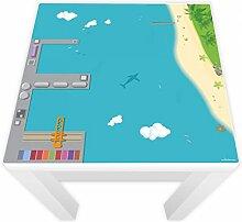 Spielfolie für LACK Tisch 54x54 Hafen & Insel (Möbel nicht inklusive)
