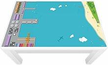 Spielfolie für LACK Tisch 89 x 54 cm Hafen & Insel (Möbel nicht inklusive)