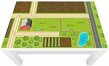 Spielfolie für LACK Tisch groß 117 x 77 cm Bauernhof (Möbel nicht inklusive)