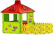 Spielhaus Kinderspielhaus mit tarrasse XXL für drinnen und Draußen Gartenhaus Kinderhaus