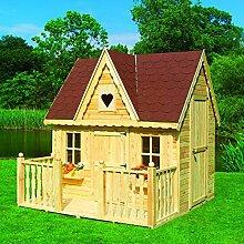 Spielhaus Schwalbennest mit Veranda Kinderhaus Gartenhaus Bausatz