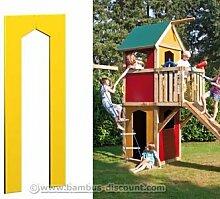 Spielhaus Wandelement mit Tür gelb, 90x138cm - Kinderspielgeräte für Garten, Spielgeräte für Kinder, Spielturm, Spieltürme