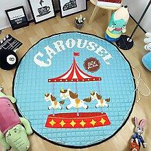 """Spielplatz Spielzeug Aufbewahrungstasche Teppich Kinder-Spiel-Matten Durchmesser 59 """"Multifunktions runden Decke Spieldecke Baby krabbeln"""