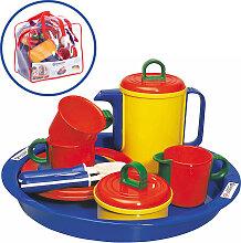 Spielstabil Kaffee-Service mit Tabeltt und Tasche