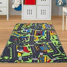 Spielteppich Auto Verkehr - Straßenteppich für
