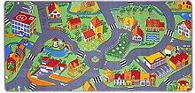 Spielteppich für das Kinderzimmer Kinderteppich City oder Country Straßenteppich in 2 Größen, Größe:95 x 200 cm, Motiv:Country Life