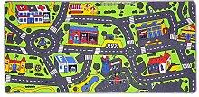 Spielteppich für das Kinderzimmer Kinderteppich City oder Country Straßenteppich in 2 Größen, Größe:95 x 200 cm, Motiv:City Life