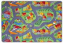 Spielteppich für das Kinderzimmer Kinderteppich City oder Country Straßenteppich in 2 Größen, Größe:140 x 200 cm, Motiv:Country Life