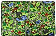 Spielteppich Kinderteppich ZOO - 140cm x 200cm,