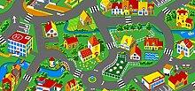 Spielteppich Little Village 100 x 165 cm Kinderteppich Teppich Spielstraße Straßenteppich