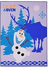 Spielteppich Olaf und Sven, Teppich Die Eiskönigin, Blau Kinderteppich SPielteppich Läufer Bettvorleger Frozen