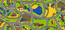 Spielteppich Playtime 100 x 165 cm Kinderteppich Teppich Spielstraße Straßenteppich