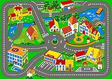 Spielteppich Quiet Town 95 x 133 cm Kinderteppich Teppich Spielstraße Straßenteppich