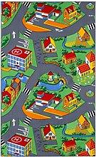 Spielteppich Straßen für Kinder verschiedene Größen , Größe:400x200 cm, Kettelung:grün