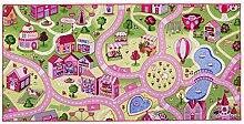 Spielteppich Sweet Town 95 x 200 cm Kinderteppich Teppich Spielstraße Straßenteppich