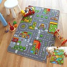 Spielteppich, wendbar, Straße und Bauernhof