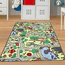 Spielteppich Zoo Tiere Größe 140 x 200 cm