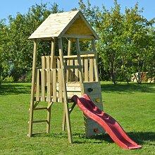 Spielturm 'Hase' holz / rot - Wenditoys