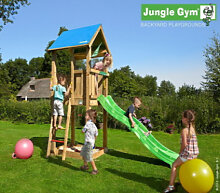 Spielturm Jungle Castle mit Rutsche