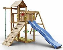 Spielturm K13 inkl. Wellenrutsche, Doppelschaukel,