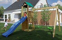 Spielturm/Kletterturm K11 inkl. Wellenrutsche,