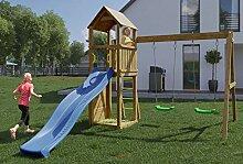 Spielturm/Kletterturm K12 inkl. Wellenrutsche,