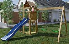 Spielturm/Kletterturm K14 inkl. Wellenrutsche,