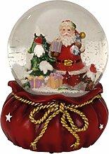 Spieluhr Schneekugel Ø 11 cm x 15 cm Weihnachten