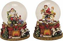 Spieluhr Schneekugel Nikolaus Santa Weihnachtsmann