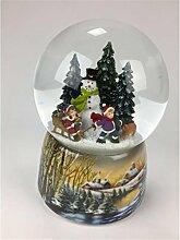 Spieluhr - Schneekugel Schneemann