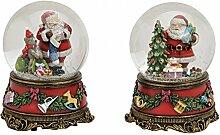 Spieluhr Schneekugel Weihnachten Xmas-Schneekugel