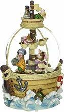 Spieluhrenwelt 25026 Schneekugel Piratenmäuse