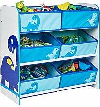 Spielzeugregal, Kinderregal Happy Dino - Blau