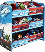 Spielzeugregal Thomas die Lokomotive - Thomas und seine Freunde, Kinderzimmerregal