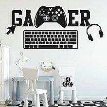 Spielzone Logo Gamer Joystick Tastatur Kopfhörer