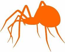 Spinne Aufkleber 004, 50 cm, orange