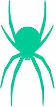 Spinnen Aufkleber Spinnenaufkleber Sticker in 8 Größen und 25 Farben (30x60cm türkis)