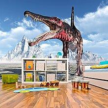 Spinosaurus brüllen Wandbild Dinosaurier Foto-Tapete Kinderzimmer Wohnkultur Erhältlich in 8 Größen Riesig Digital
